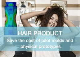 packaging cosmetic hair product