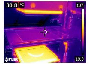 contact plates heating digital simulation packaging